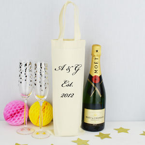 Personalised 'Anniversary' Bottle Bag