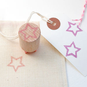 Little Star Outline Hand Carved Rubber Stamp