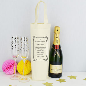 Personalised Bottle Bag - ribbon & wrap