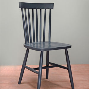 Painted Spindle Back Oak Chair