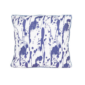 Splatter, Ink Blue Cushion - patterned cushions