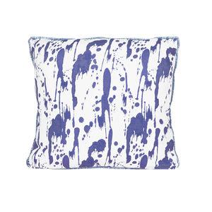 Splatter, Ink Blue Cushion - patterned cushions