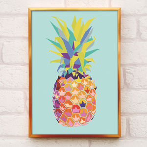 Tropical Pineapple Print A4 And A3