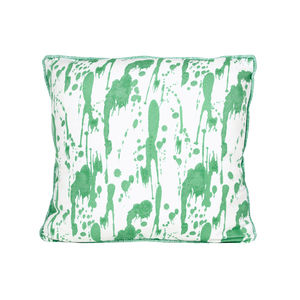 Splatter, Lake Green Cushion - soft colour pop