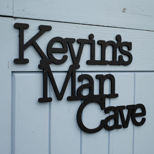 Personalised Man Cave Wall Art - decorative accessories