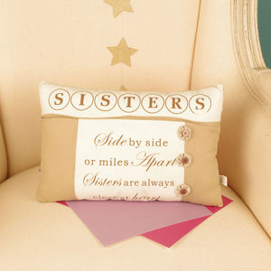 Close To The Heart Sister Cushion - cushions