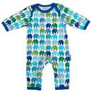 Organic Cotton Blue Elly Printed Sleepsuit