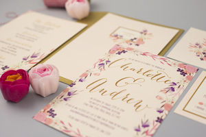 'Love In Bloom' Wedding Invitation Set - invitations