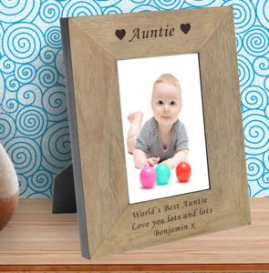 Auntie Personalised Wooden Photo Frame