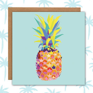 Tropical Pineapple Card Blank