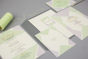 Geometric Wedding Invitations - save the date cards