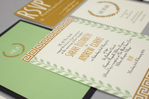 Grecian Wedding Invitation - save the date cards