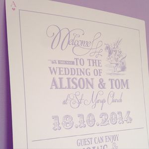 Adorable Alice Order Of Day Board - outdoor wedding signs