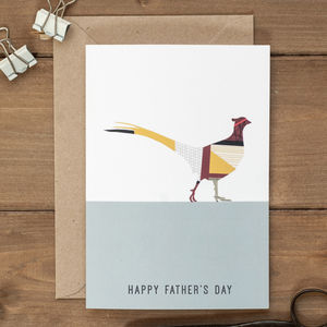 Pheasant Father's Day Card