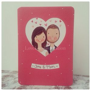 Personalised Couple Keepsake Card - anniversary cards