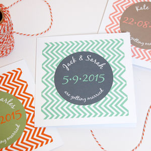 Chevron Stripe Contemporary Wedding Stationery - invitations