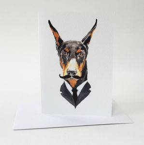 Doberman Card