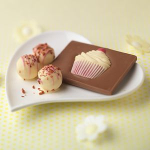 Champagne Truffles With Cupcake Chocolate Bar