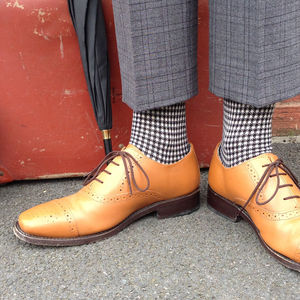 Men's Houndstooth Cotton Socks
