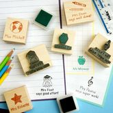 Personalised Teacher Rubber Stamp Gift - christmas