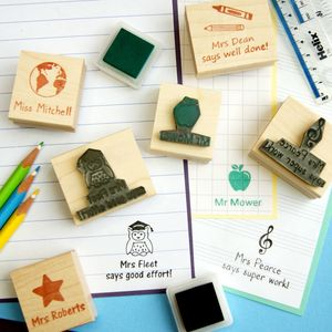 Personalised Teacher Rubber Stamp Gift - gifts for teachers