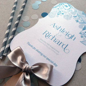 'Eden' Ornate Order Of Service Program Fan - wedding stationery