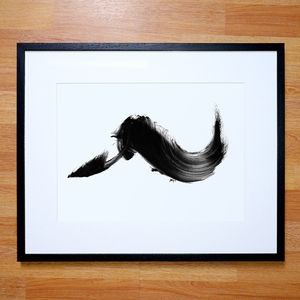 Black And White Abstract Print From A Painting