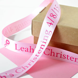 Christening 25mm Personalised Printed Ribbon - ribbon & wrap