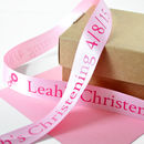 Christening 25mm Personalised Printed Ribbon