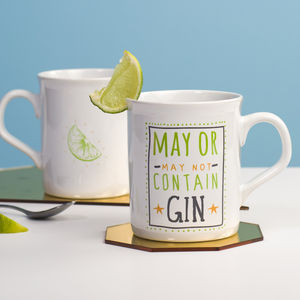 'May Contain Gin' Ceramic Mug - stocking fillers under £15