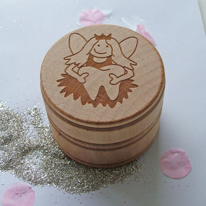 Personalised Tooth Fairy Wooden Box
