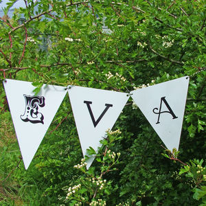 Personalised Garden Bunting