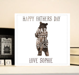 Personalised Father's Day Card 'Bear hugs'