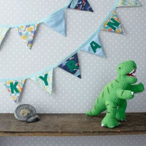 Dinosaur Bunting - children's room