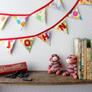 Personalised Circus Bunting - children's room