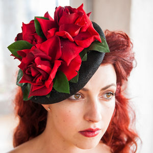 Three Roses Fascinator - head pieces