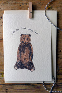 Daddy Bear Father's Day Card - father's day cards