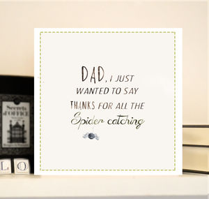 Father's Day Card 'Spider catching'