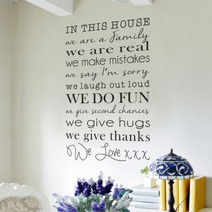 In This House Wall Sticker - wall stickers