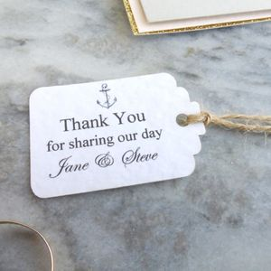 Personalised Anchor Wedding Favour Tags