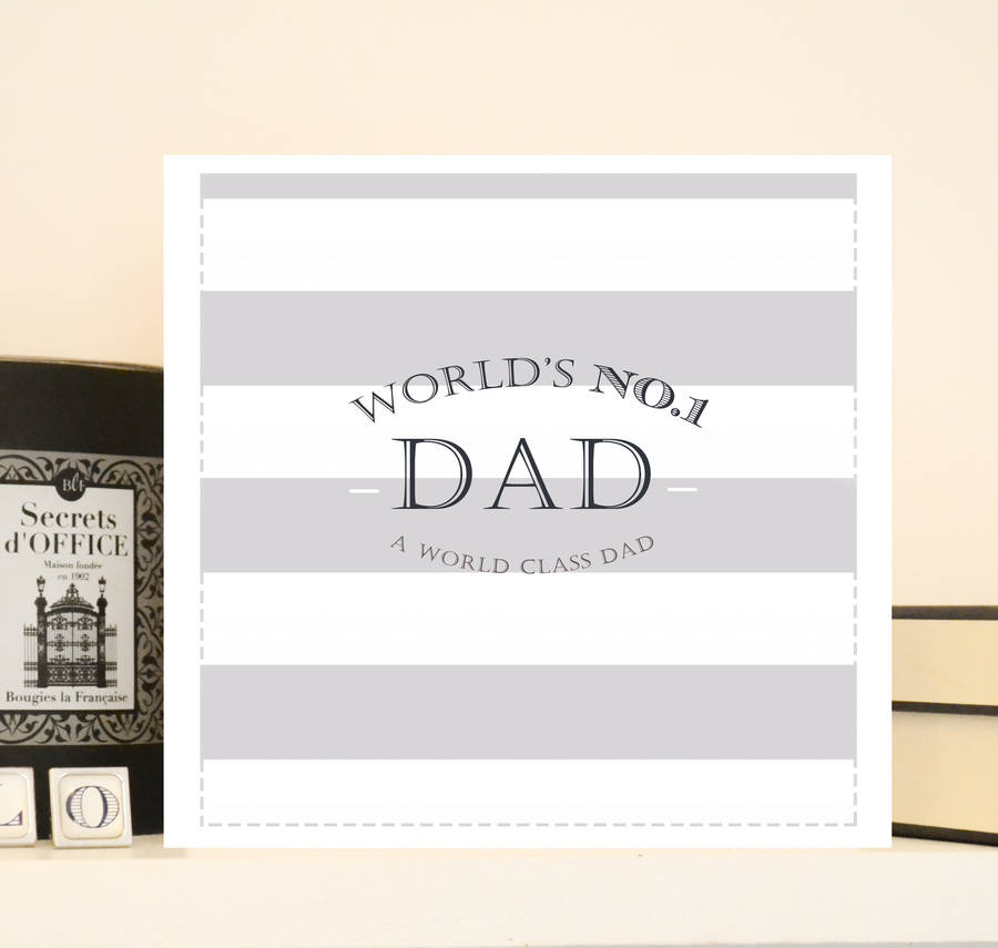 Luxury Father's Day Card 'World's No.1 Dad'