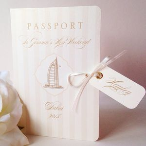Passport To Paradise Invitation And Itinerary Booklet - invitations