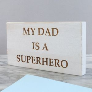 Personalised Superhero Wooden Sign