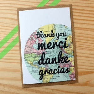 'Thank You' In Different Languages Card