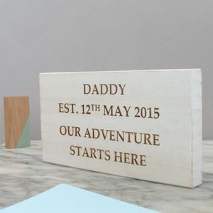 Personalised White Wooden Sign For Dad - gifts for new dads