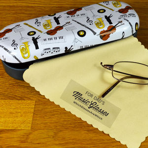 Personalised Music Glasses Case - glasses cases