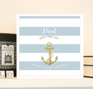 Luxury Nautical Anchor Father Day Card 'Hamptons'
