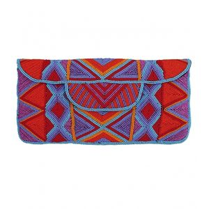 Mzuri Beaded Clutch Bag - indian summer