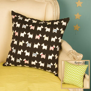 Geometric Scottie Dog Cushion