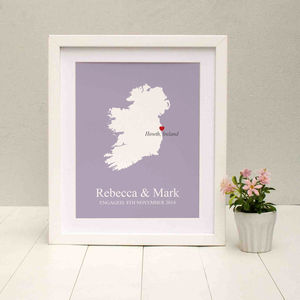 Engaged In Ireland Personalised Print